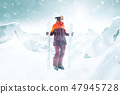 滑雪者 滑雪 雪 47945728