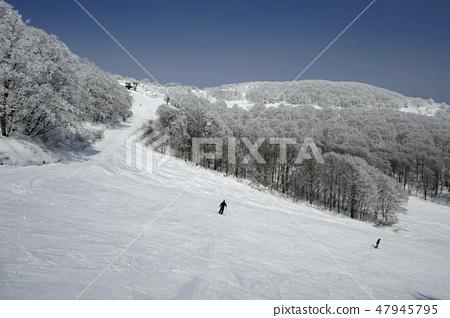 Alts Bandai  - 一個寬闊的霧冰坡和4號山峰 47945795