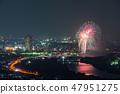 카츠 시카 납량 불꽃 놀이 부감 2018 년 7 월 촬영 47951275