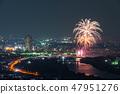 카츠 시카 납량 불꽃 놀이 부감 2018 년 7 월 촬영 47951276