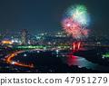 카츠 시카 납량 불꽃 놀이 부감 2018 년 7 월 촬영 47951279