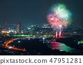 카츠 시카 납량 불꽃 놀이 부감 2018 년 7 월 촬영 47951281