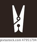 Clothes peg icon 47951794
