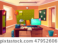 Vector cartoon cabinet of private detective, policeman 47952606
