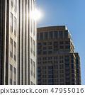 Reflective tall buildings in Salt Lake City Utah 47955016