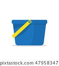 Garden bucket icon. Bucket with water 47958347