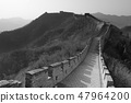 Great Wall in black and white 47964200