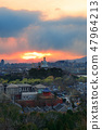 Beijing skyline at sunset 47964213