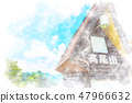 Nature's watercolor style of Mt. Takao 47966632