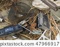 쓰레기의 불법 투기 썩은 카세트 47966917
