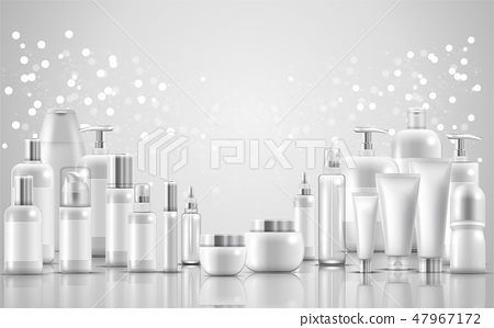 Set of skin care natural beauty product packaging 47967172