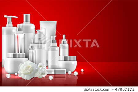 Set of skin care natural beauty product packaging 47967173