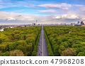 Berlin Germany, high angle skyline at Tier Garden 47968208