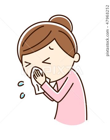 A woman biting a nose 47968252