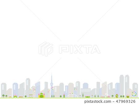 主題公園城市景觀 47969326