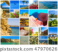 Collage of pictures from Egypt holidays. Sharm El Sheikh 47970626