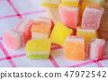 Jelly squares multicolored. 47972542
