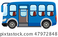 A blue buson white background 47972848