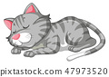 A cat character sleeping 47973520
