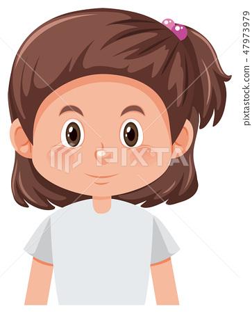 A brunette short hair character 47973979