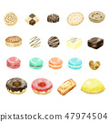 Sweets 19 pieces set material 47974504
