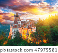 medieval Bran castle known for the myth of Dracul 47975581