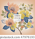 Vector illustration of a floral frame in spring 47976193