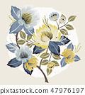 잎, 벡터, 파스텔 47976197