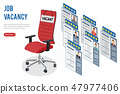 Isometric Job Agency Employment and Hiring Concept 47977406
