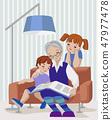 Grandmother and kids 47977478