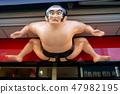 Sumo doll. Entrance to the gift shop Asakusa Tokyo 47982195