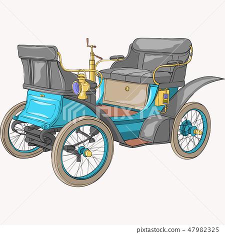 Vector. Old car. 47982325