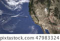 Commercial plane arrives to San Francisco, United States, 3D rendering 47983324