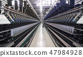 Spinning factory, production of fabrics, thread of silk, linen, and synthetics, view of tunnels of 47984928