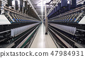 Spinning factory, production of fabrics, thread of silk, linen, and synthetics, view of tunnels of 47984931