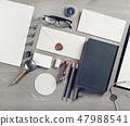 Blank vintage stationery 47988541