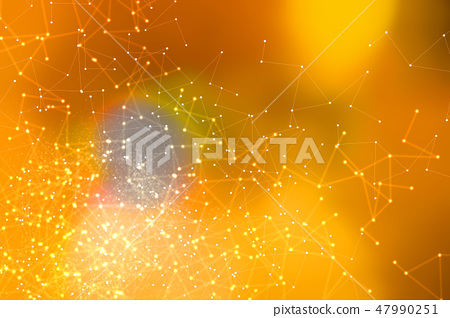 Abstract net pattern background 47990251