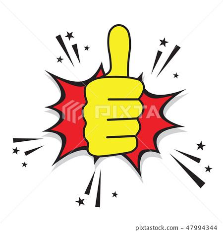 thumb up cartoon comic design stock illustration 47994344 pixta thumb up cartoon comic design stock