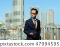 商人藍天大廈企業人圖像 47994595