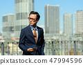 商人藍天大廈企業人圖像 47994596