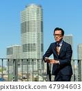 商人藍天大廈企業人圖像 47994603