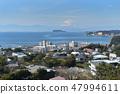 View of Zushi marina Enoshima Fuji direction from Zushi city office mountain 47994611