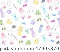 손으로 그린 수채화 일러스트 배경 질감 패션 47995870