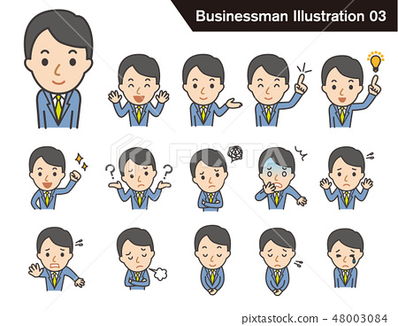 Businessman's illustration set 03 48003084