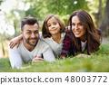 family, happy, park 48003772
