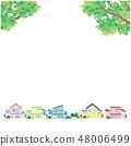 Fresh green streets illustration vector 48006499