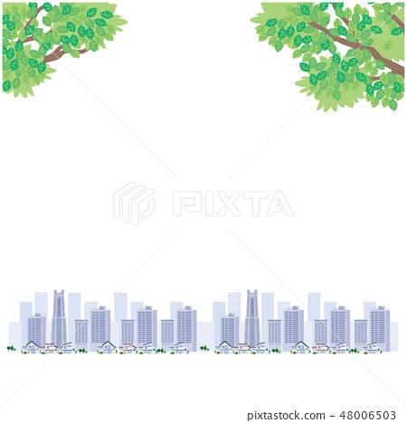 Fresh green streets illustration vector 48006503