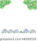 Fresh green streets illustration vector 48006505