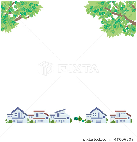 Fresh green streets illustration vector 48006505