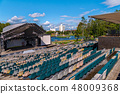 Summer concert hall with empty stands in the open 48009368